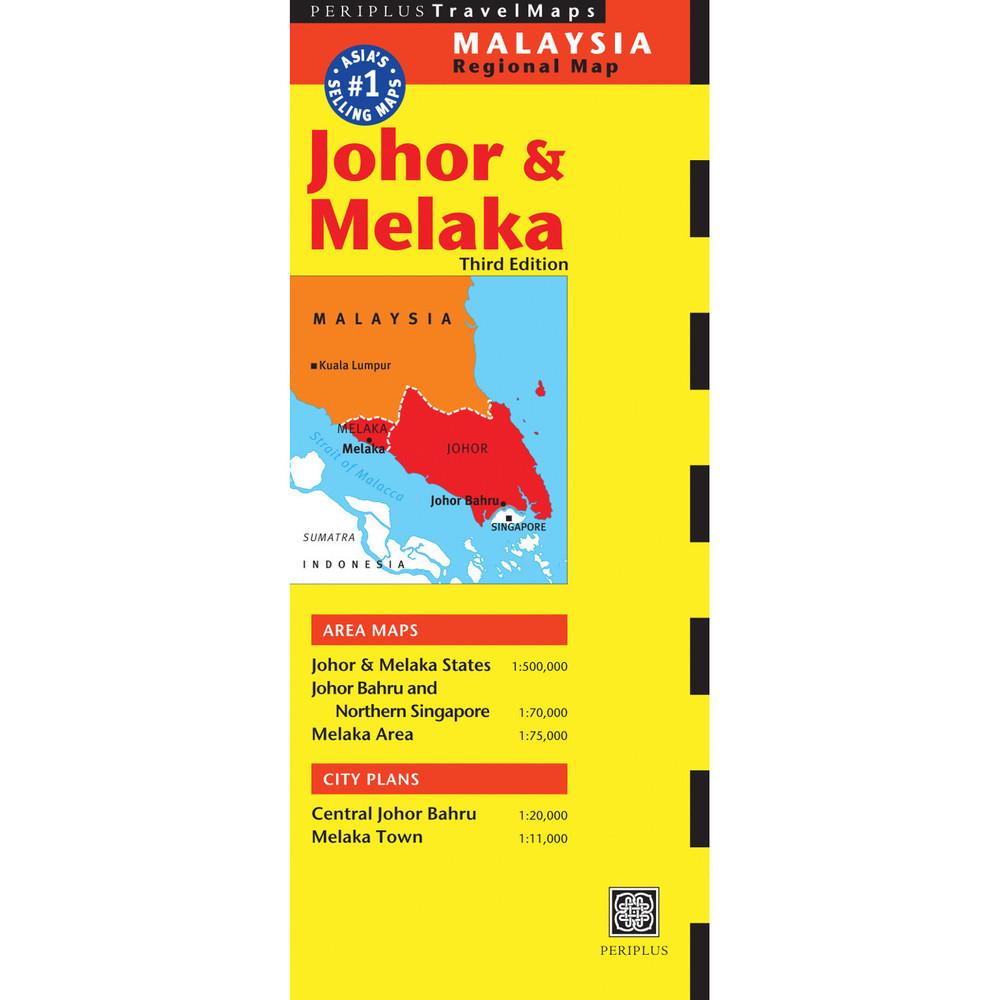 Johor & Melaka Travel Map Third Edition