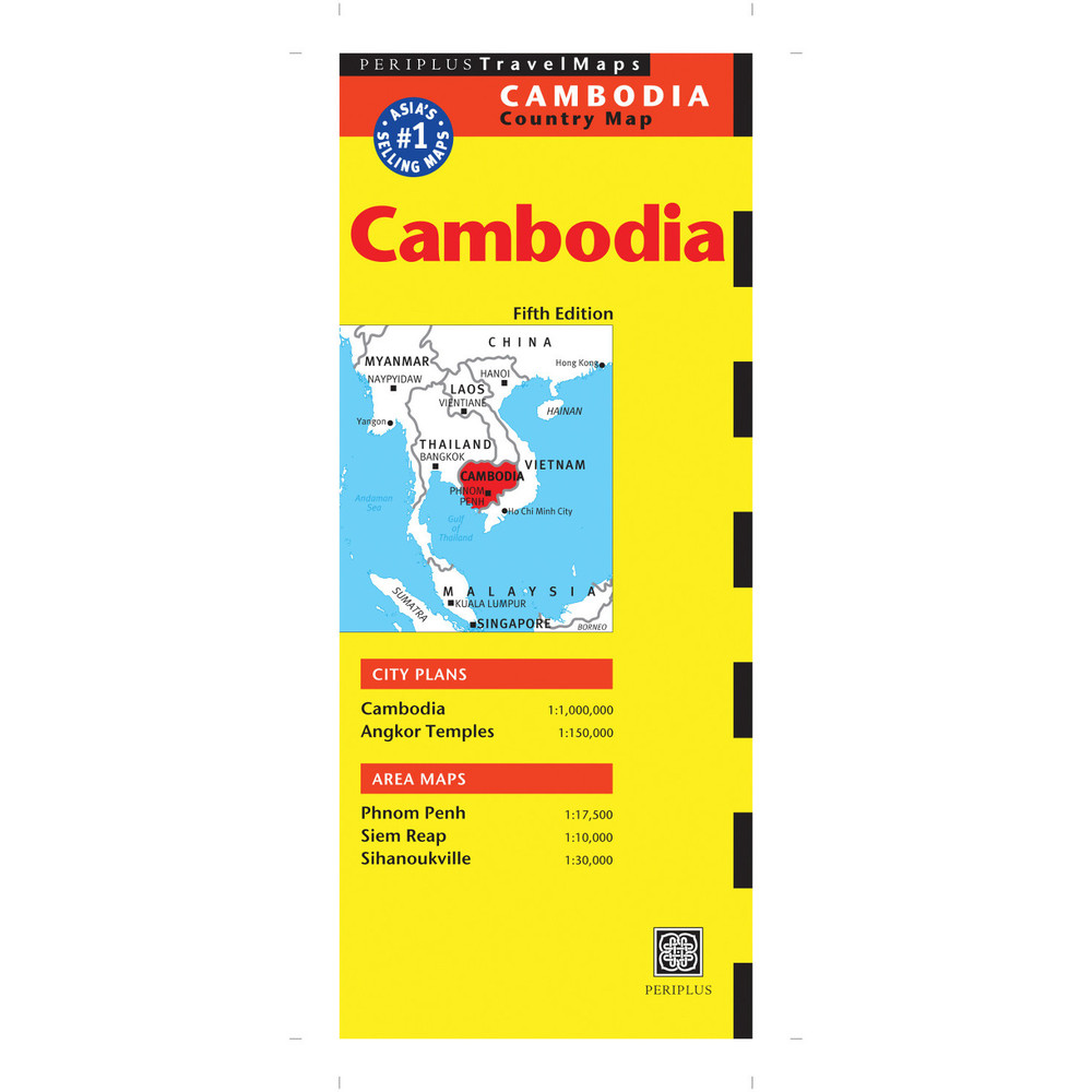 Cambodia Travel Map Fifth Edition