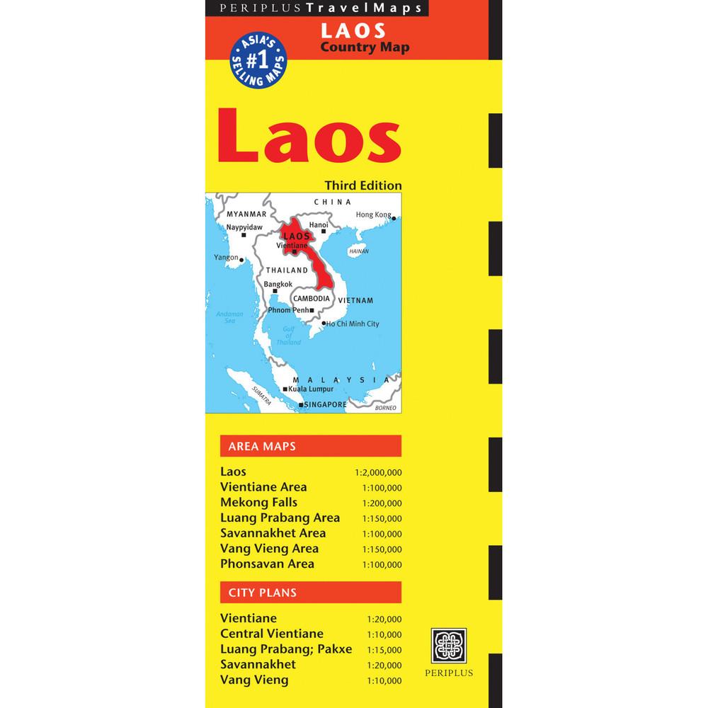 Laos Travel Map Third Edition