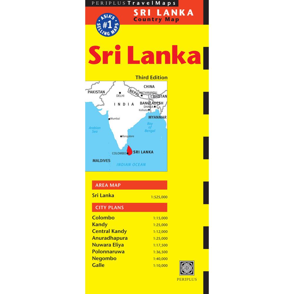 Sri Lanka Travel Map Third Edition