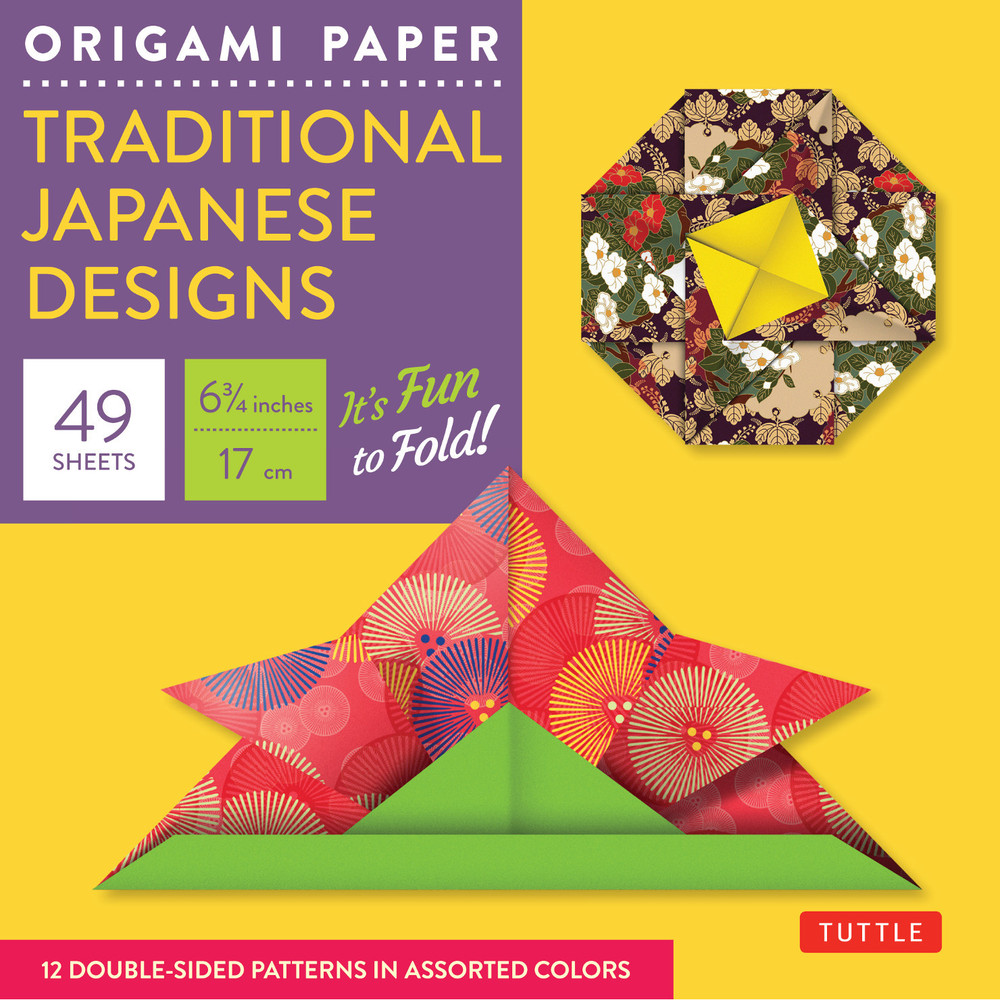Origami Paper - Traditional Japanese Designs - Small 6 3/4""