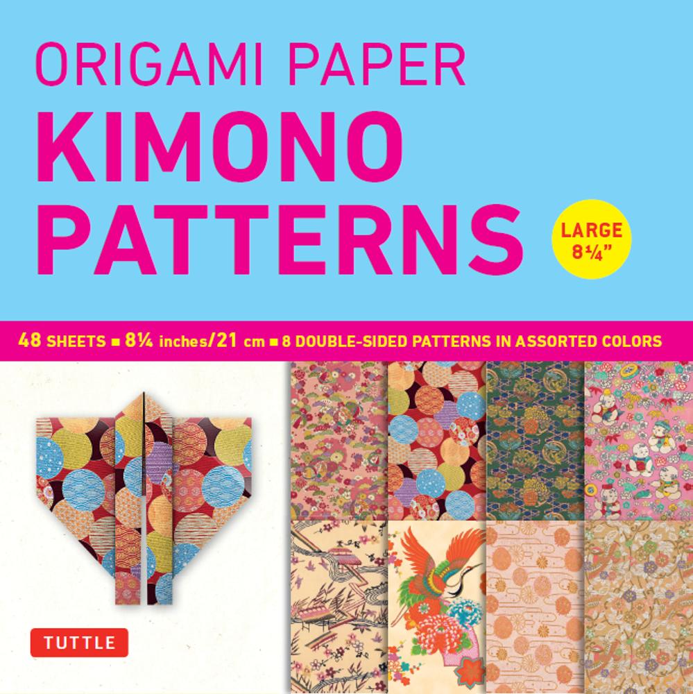 "Origami Paper - Kimono Patterns - Large 8 1/4"" - 48 Sheets"