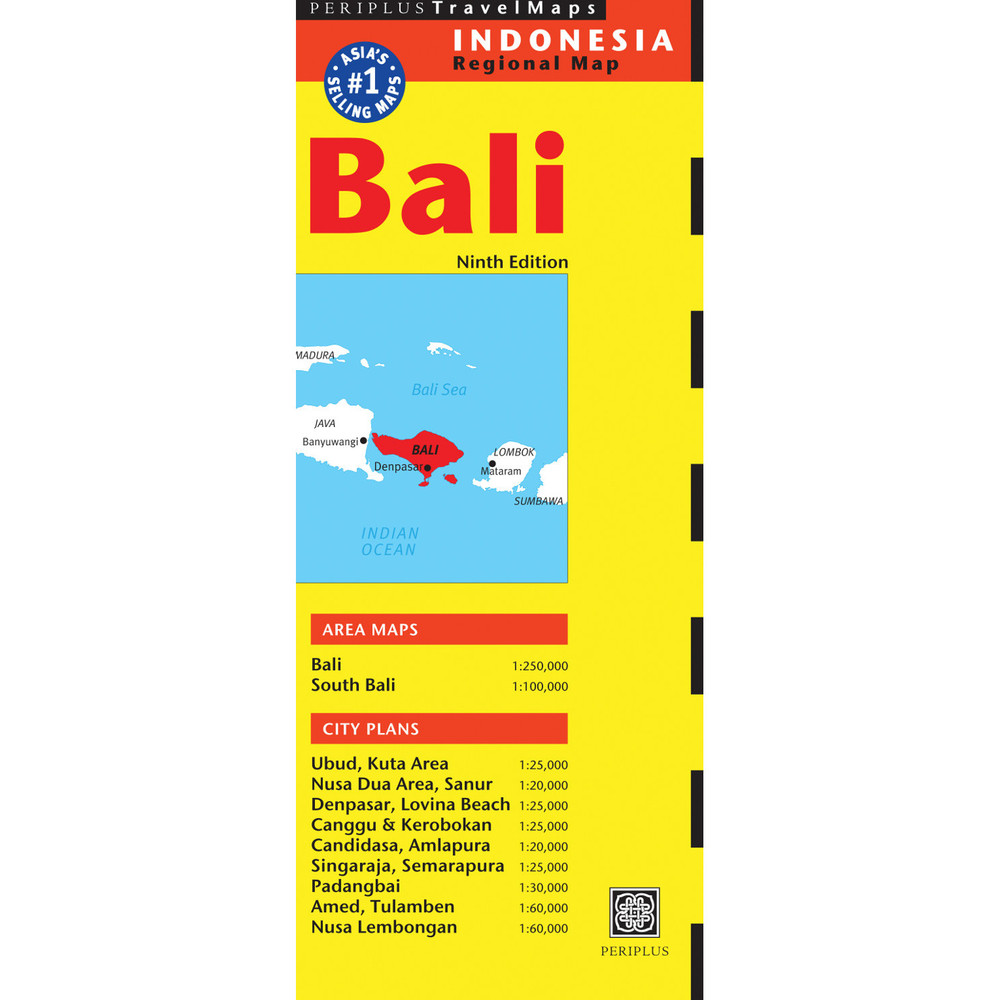 Bali Travel Map Ninth Edition