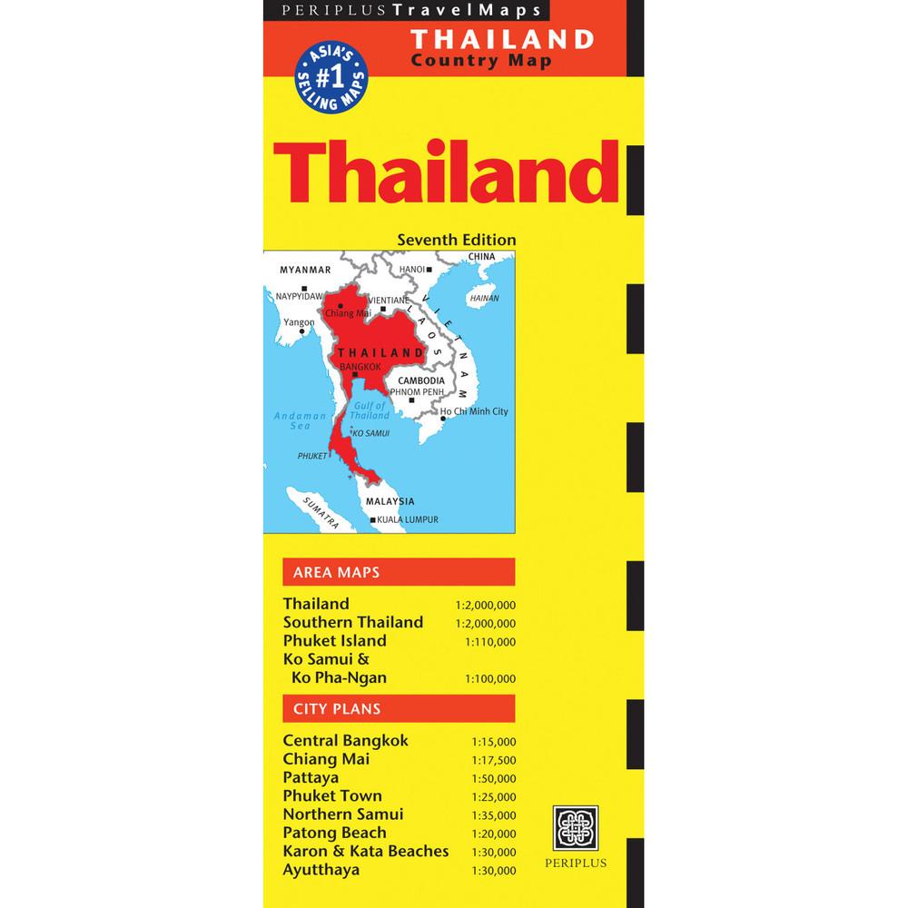 Thailand Travel Map Seventh Edition