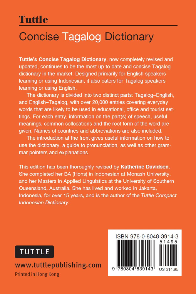 Tuttle Concise Tagalog Dictionary
