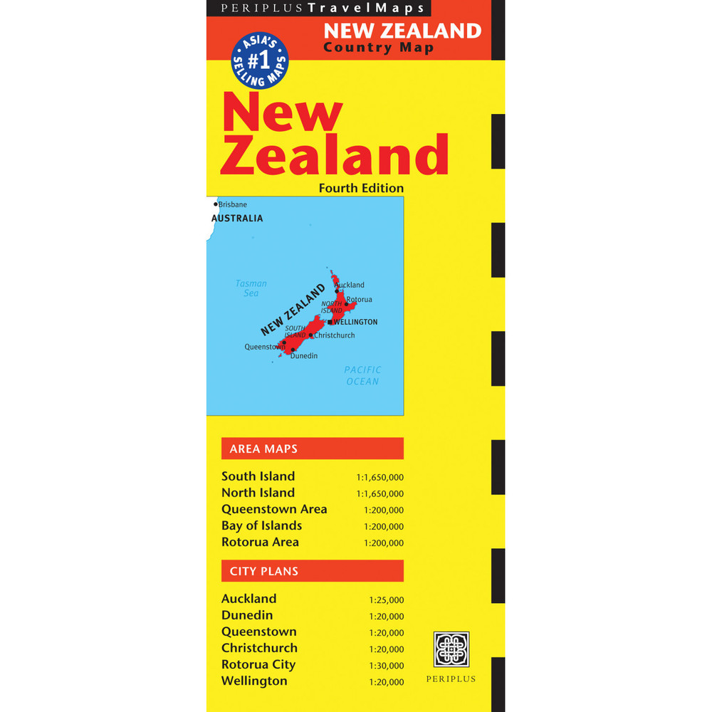New Zealand Travel Map Fourth Edition