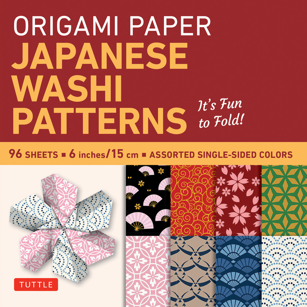 "Origami Paper - Japanese Washi Patterns - 6"" - 96 Sheets"