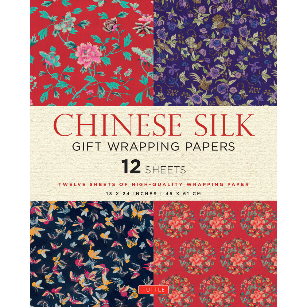 Chinese Silk Gift Wrapping Papers 12 Sheets