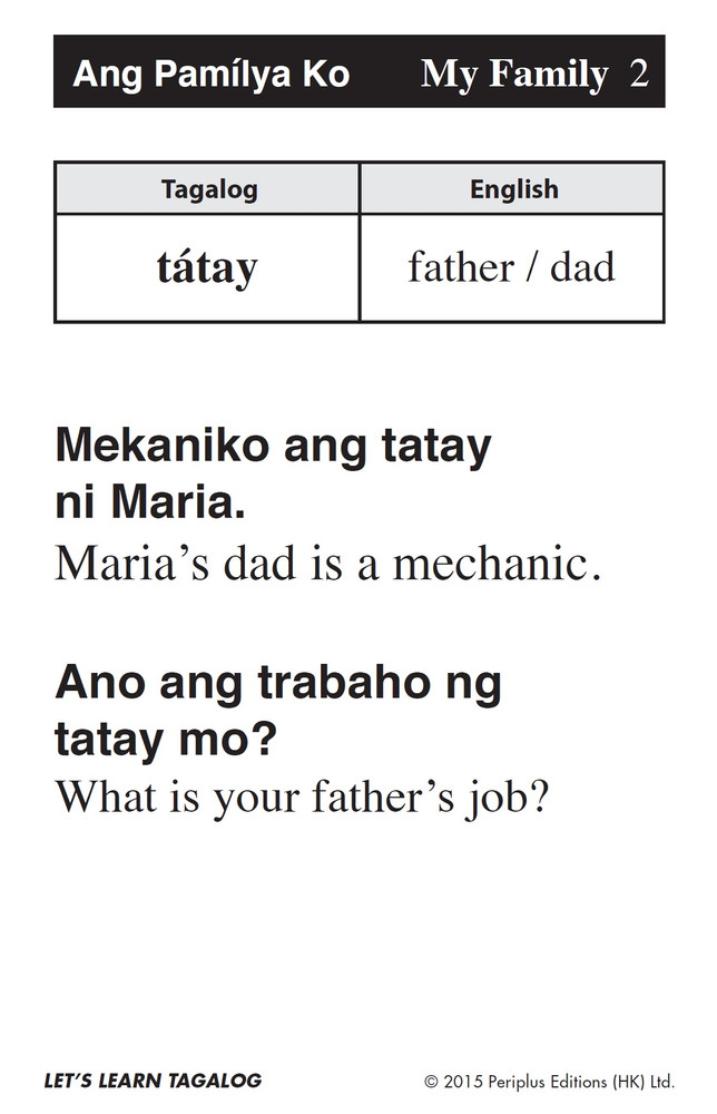 Let's Learn Tagalog Kit(9780804845748)