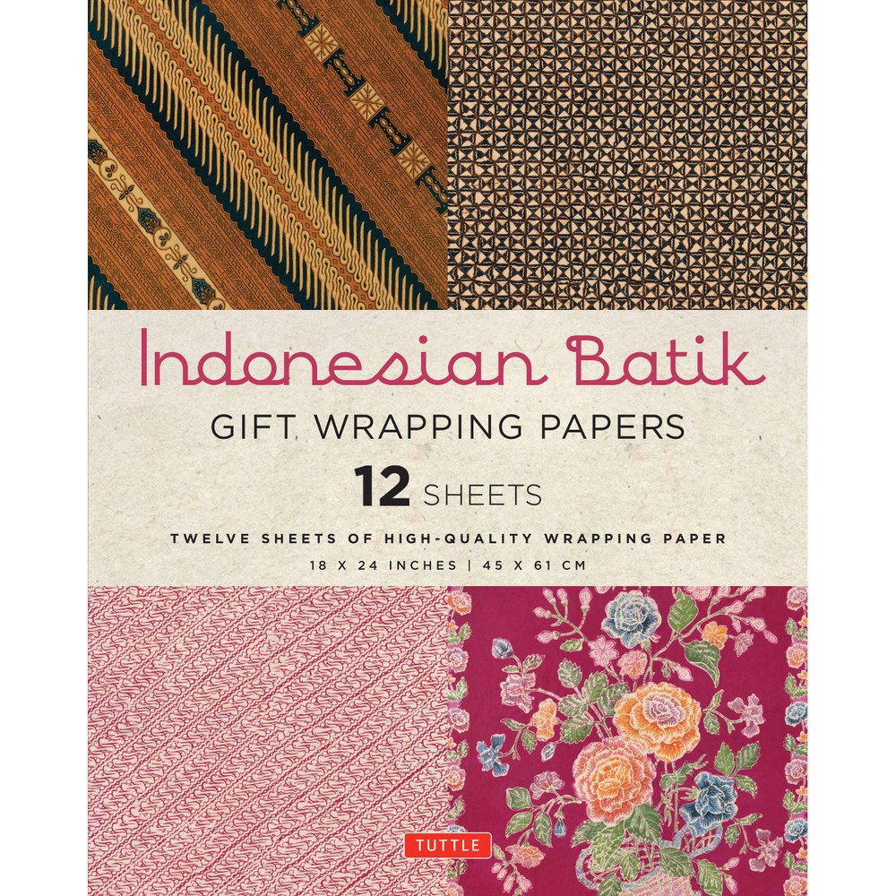 Indonesian Batik Gift Wrapping Papers 12 Sheets