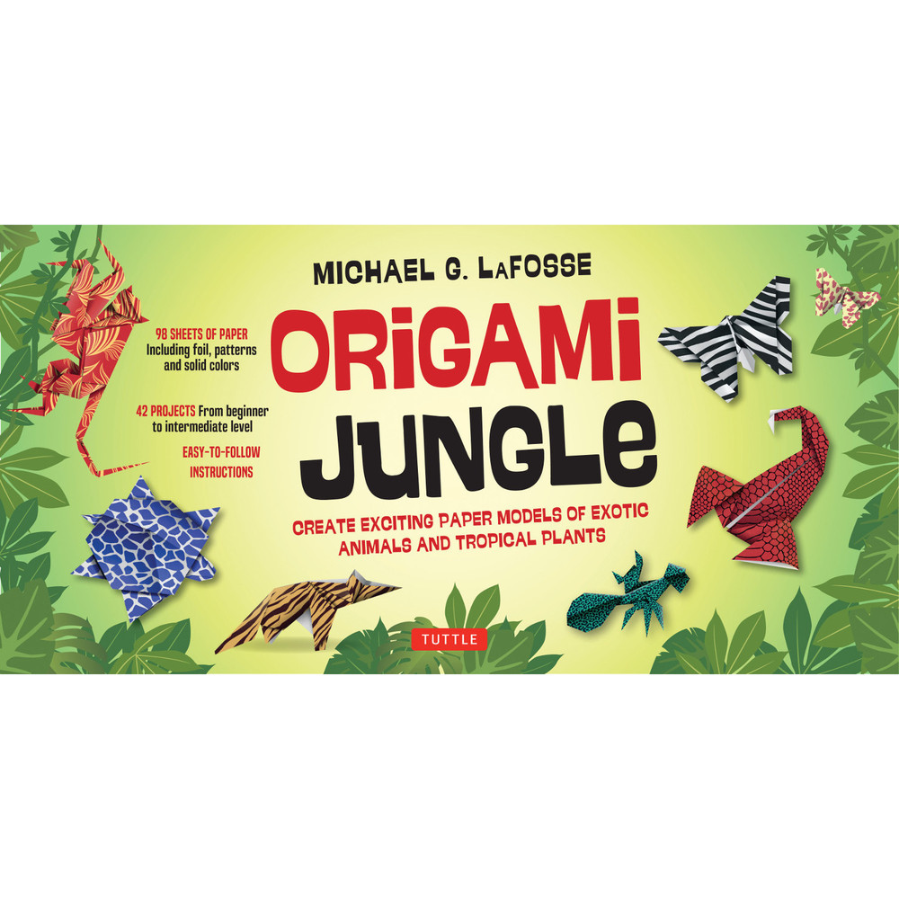 Origami Jungle Kit (Book and Kit) (9780804845526)