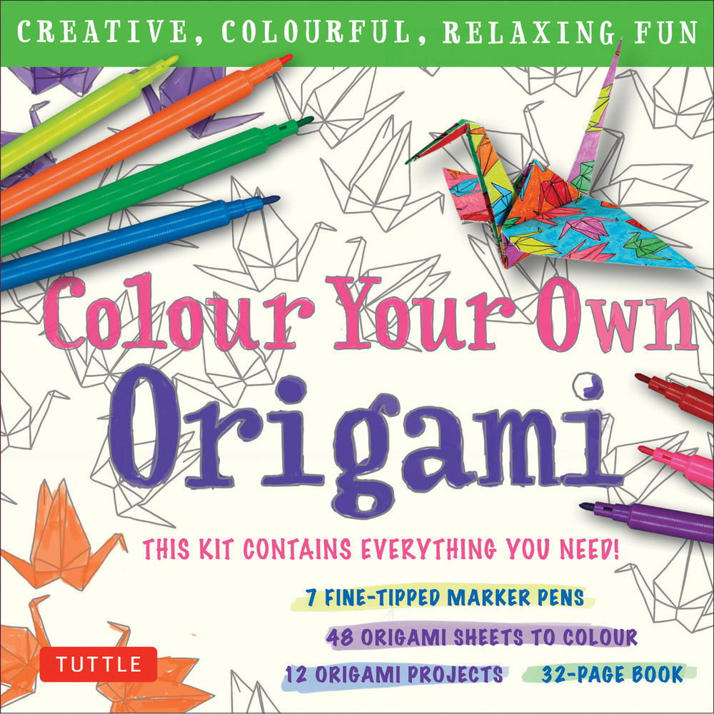 Colour Your Own Origami Kit (British Spelling)
