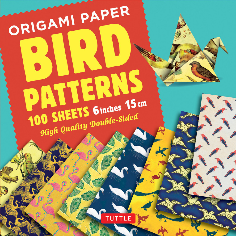 "Origami Paper 100 sheets Bird Patterns 6"" (15 cm)"