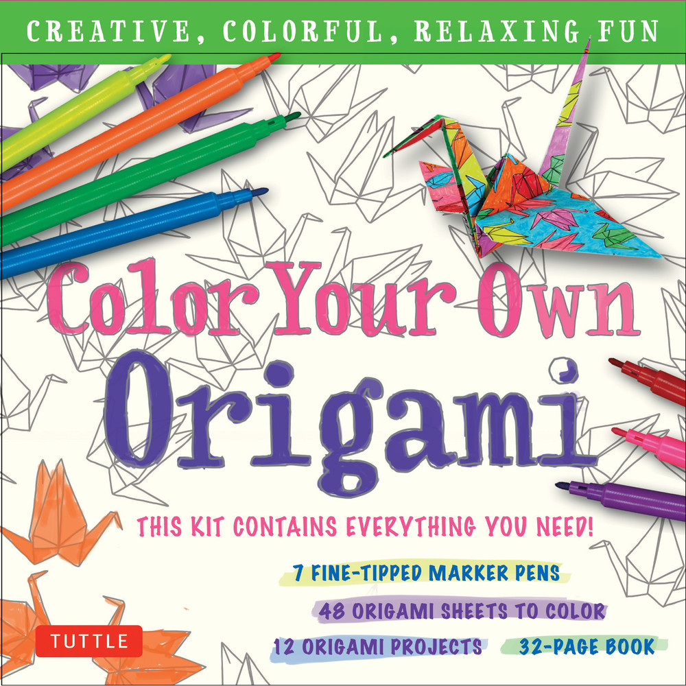 Color Your Own Origami Kit (9780804851275)