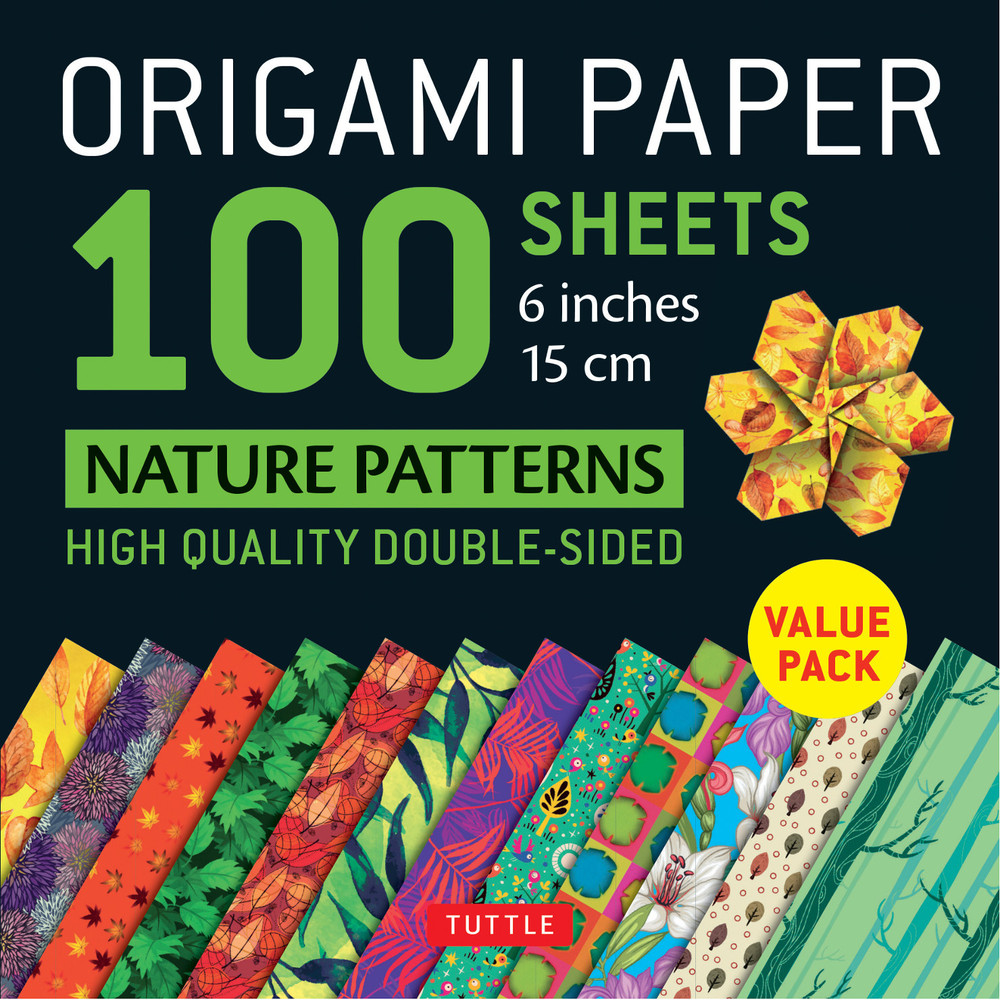 "Origami Paper 100 sheets Nature Patterns 6"" (15 cm)"