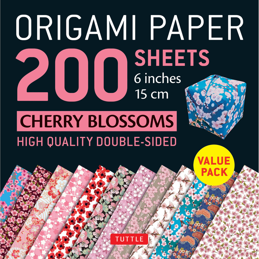 "Origami Paper 200 sheets Cherry Blossoms 6"" (15 cm)"