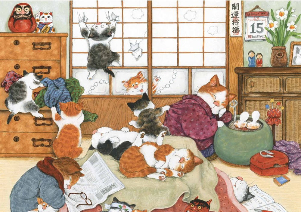 Japanese Cats Note Cards