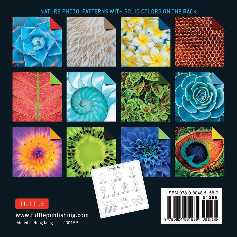 """Origami Paper 500 sheets Nature Photo Patterns 6"""" (15 cm)"""