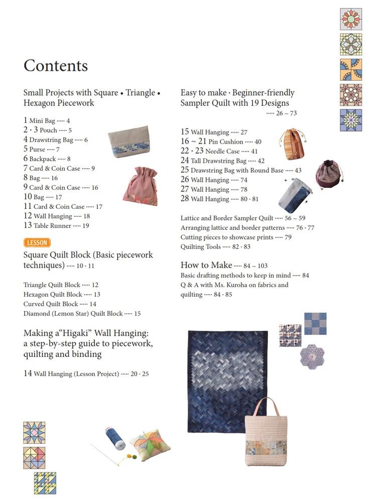Shizuko Kuroha's Japanese Patchwork Quilting Patterns