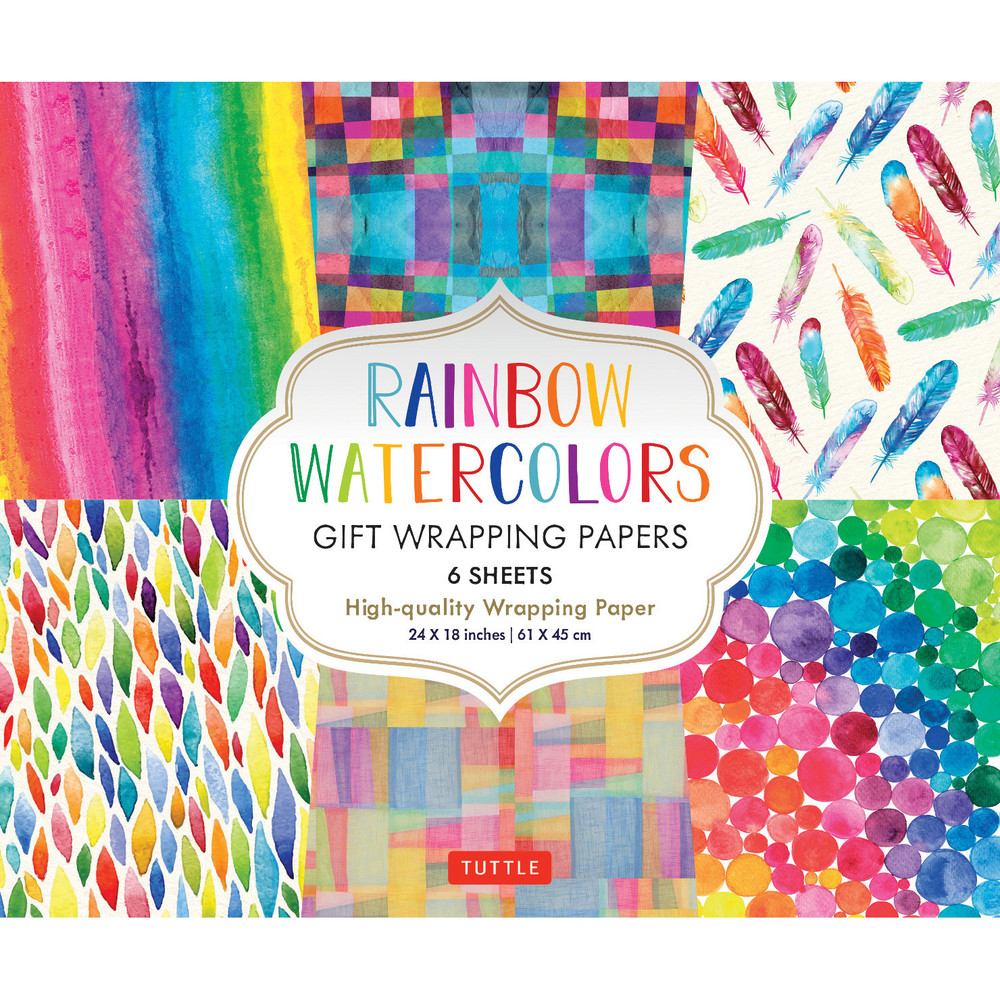 Rainbow Watercolors Gift Wrapping Papers