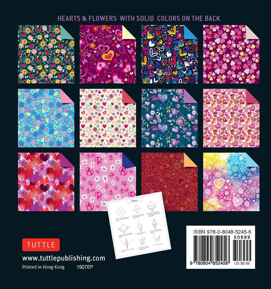 "Origami Paper 100 sheets Hearts & Flowers 6"" (15 cm)"