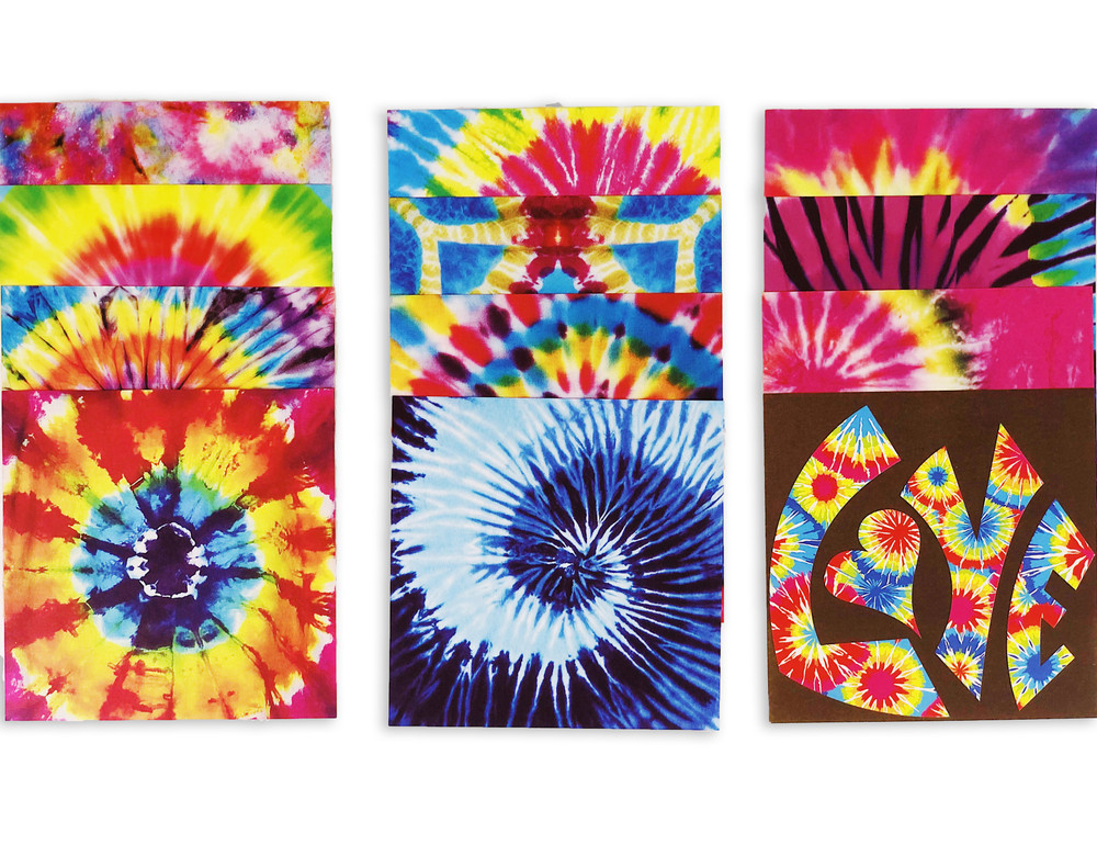 "Origami Paper 300 sheets Tie-Dye Patterns 4"" (10 cm)"