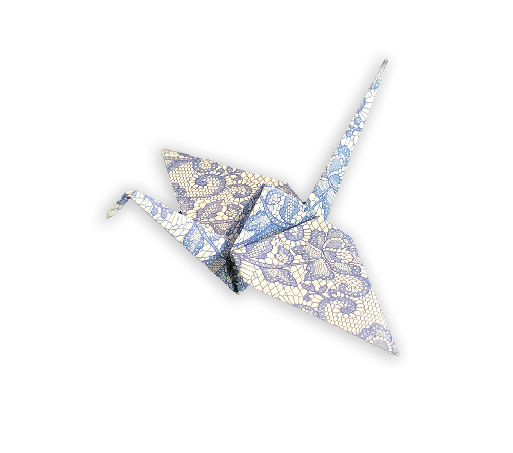 """Origami Paper 200 sheets Blue and White Patterns 6"""" (15 cm)"""