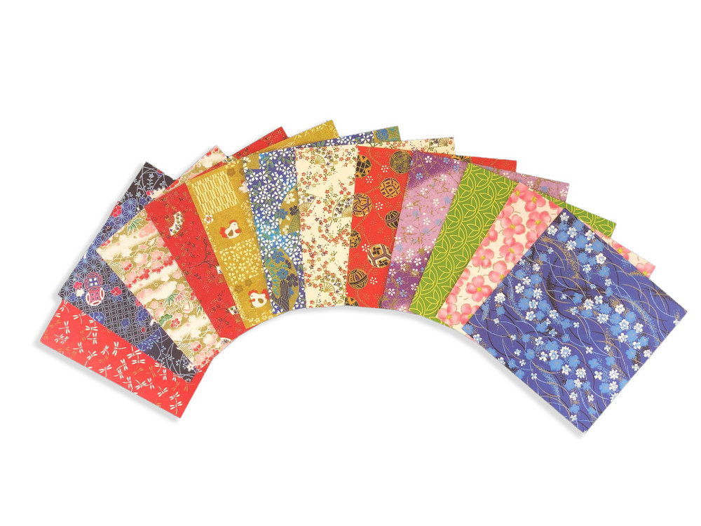 """Origami Paper 500 sheets Chiyogami Patterns 4"""" (10 cm)"""