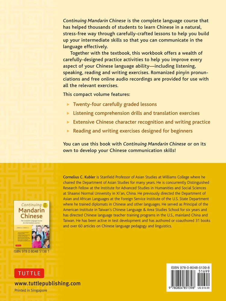 Continuing Mandarin Chinese Workbook