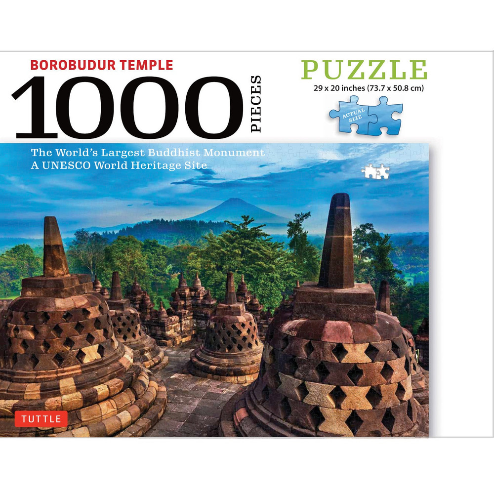 Borobudur Temple, Indonesia - 1000 Piece Jigsaw Puzzle