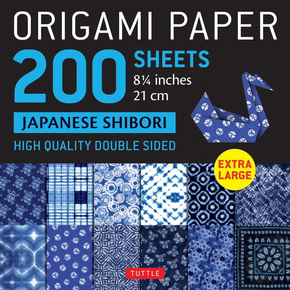 "Origami Paper 200 sheets Japanese Shibori 8 1/4"" (21 cm)"