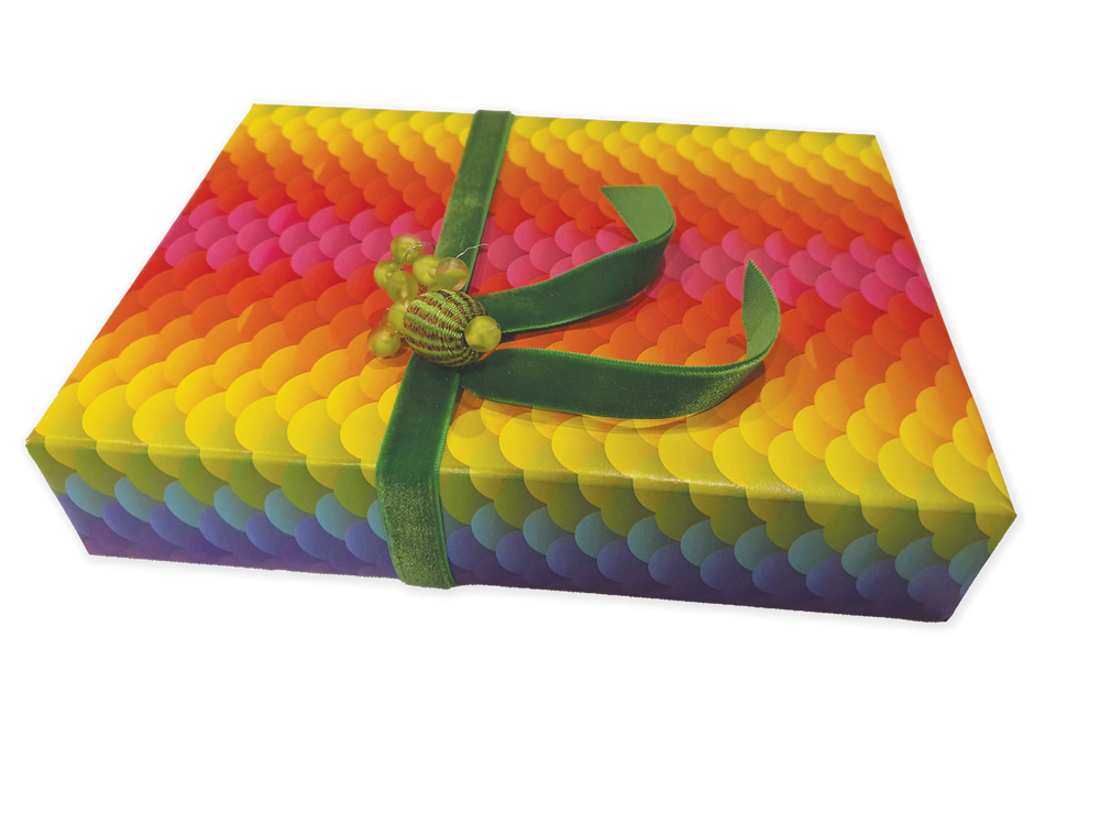 24 sheets of Rainbow Patterns Gift Wrapping Paper