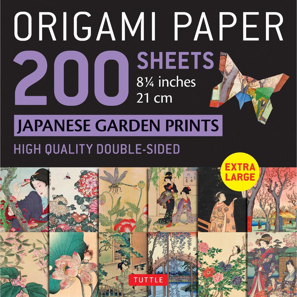 "Origami Paper 200 sheets Japanese Garden Prints 8 1/4"" 21cm"