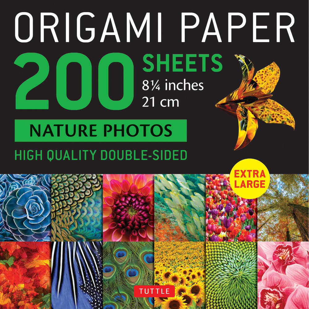 "Origami Paper 200 sheets Nature Photos 8 1/4"" (21 cm)"