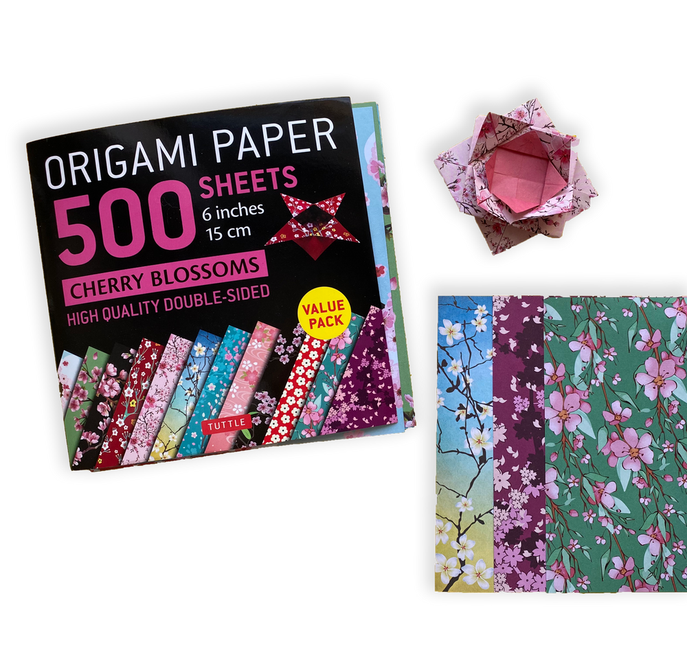 """Origami Paper 500 sheets Cherry Blossoms 6"""" (15 cm)"""