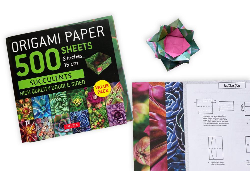 "Origami Paper 500 sheets Succulents 6"" (15 cm)"