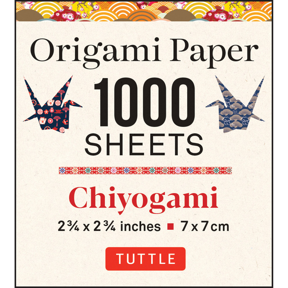 Origami Paper Chiyogami 1,000 sheets 2 3/4 in (7 cm)