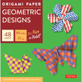 "Origami Paper - Geometric Prints - 6 3/4"" - 49 Sheets"