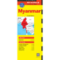 Myanmar Travel Map Fourth Edition
