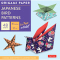 """Origami Paper - Japanese Bird Patterns - 8 1/4"""" - 48 Sheets"""