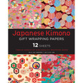Japanese Kimono Gift Wrapping Papers 12 Sheets