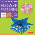 """Origami Paper - Flower Patterns - 6 3/4"""" Size - 48 Sheets"""