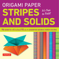 "Origami Paper - Stripes and Solids 6"" - 96 Sheets"