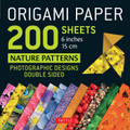 "Origami Paper 200 sheets Nature Patterns 6"" (15 cm)"