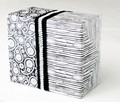 Black & White Gift Wrapping Papers - 6 sheets