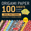 "Origami Paper 100 sheets Dog Patterns 6"" (15 cm)"