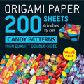 """Origami Paper 200 sheets Candy Patterns 6"""" (15 cm)"""