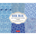 Cool Blue Gift Wrapping Papers 6 sheets