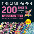 "Origami Paper 200 sheets Flower Patterns 6"" (15 cm)"