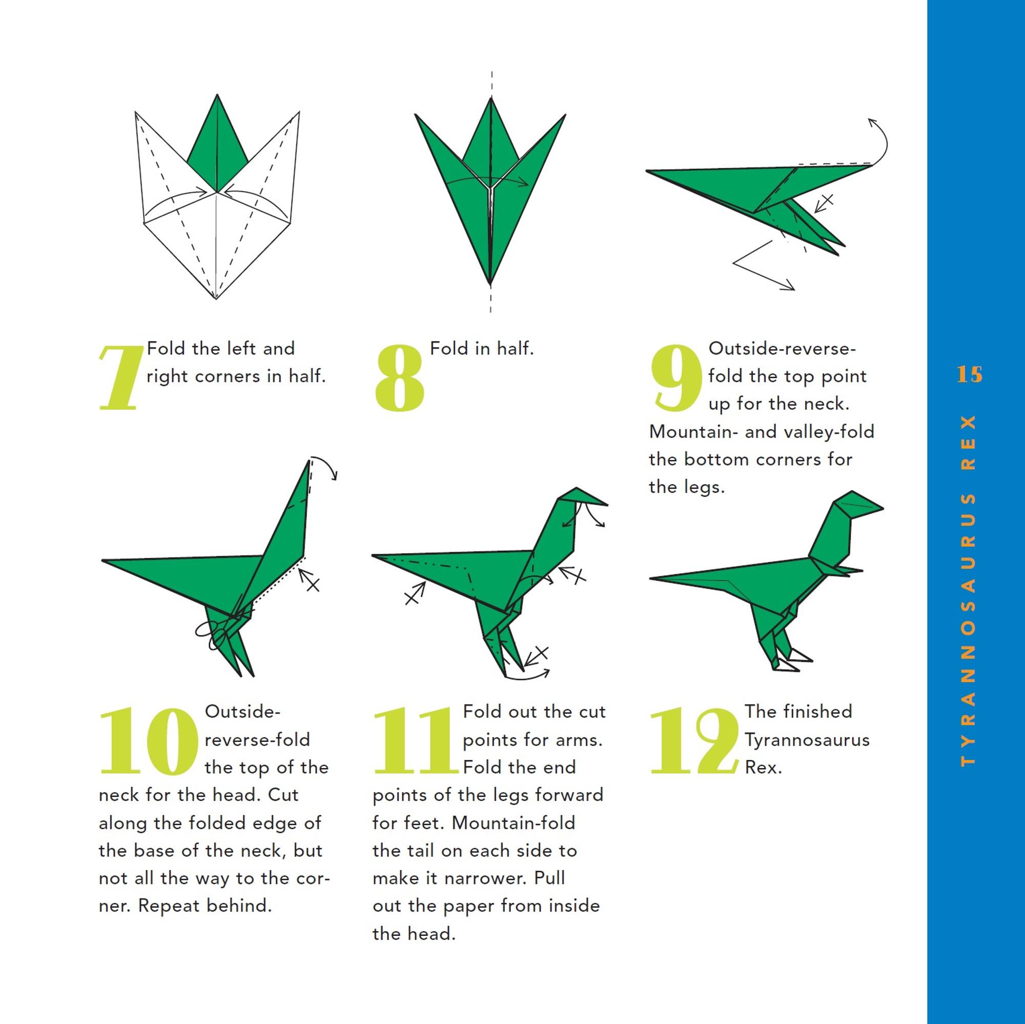 Origami Dinosaur - T-Rex 3D Head | Origami | Paper Art - YouTube | 1997x2000